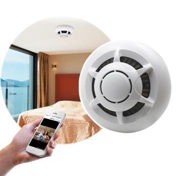 1080P高畫質偽裝煙霧偵測器型網路針孔攝影機
