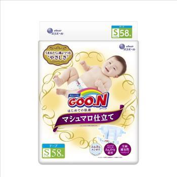 GOO.N 日本大王尿布 頂級珍珠棉柔黏貼型S(58x3包/箱)