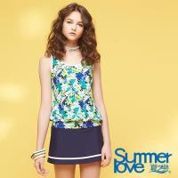 夏之戀SUMMER LOVE 加大碼長版印花三件式S18720