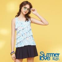 夏之戀SUMMER LOVE  大女長版二件式泳衣S18730
