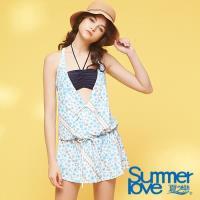 夏之戀SUMMER LOVE  大女點點連身裙三件式S18731