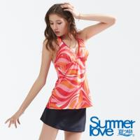 SUMMERLOVE夏之戀 大女幾何印花長版三件式泳衣S18705