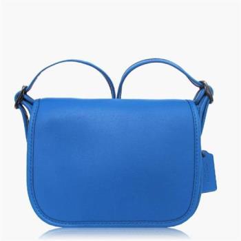 COACH 輕便小包 皮革 / 側背 / 斜背包(迷你專櫃款) 藍色