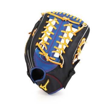 MIZUNO 壘球手套-外野手用 競賽 棒球 美津濃 黑橘黃