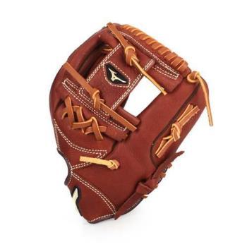 MIZUNO 棒壘球手套-右投-內野手用 競賽 棒球 美津濃 咖啡