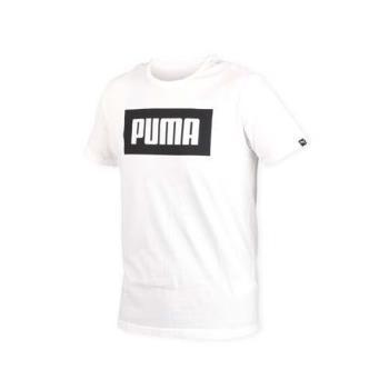 PUMA 男短上衣-T恤 短T 慢跑 路跑 白黑