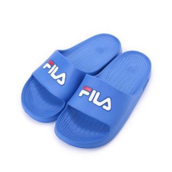 FILA 一體成型套式拖鞋 寶藍 4S355Q-321 女鞋 鞋全家福