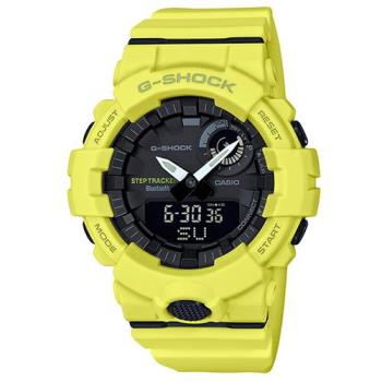 【CASIO】G-SHOCK 完美城市運動休閒藍芽錶-黃(GBA-800-9A)