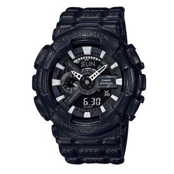 【CASIO】G-SHOCK 硬漢皮革設計雙顯錶-GA-110BT-1A