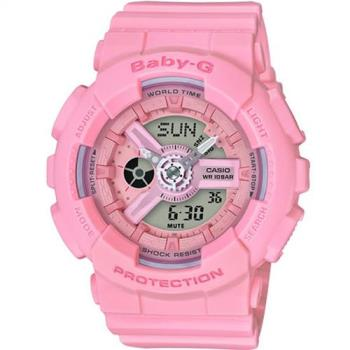 BABY-G Pink Color Series 粉嫩氣息運動錶  BA-110-4A1 粉紅