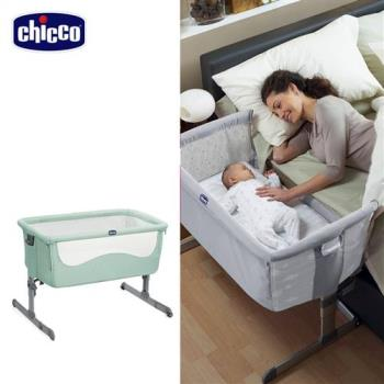 chicco-Next 2 Me多功能移動舒適嬰兒床-薄荷綠