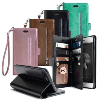 AISURE for iPhone 6s Plus 6 Plus 5.5吋 自在生活多層次皮夾錢包手機皮套