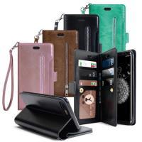 AISURE for Samsung Galaxy S9+ 自在生活多層次皮夾錢包手機皮套
