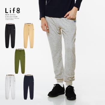 Life8-Casual 柔棉刷毛 輕量長絨縮口褲-02443