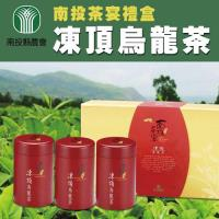 【南投縣農會】南投茶宴 凍頂烏龍茶禮盒(100g-3罐-盒) x2盒組