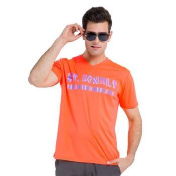 【聖伯納St. Bonalt】男-圖騰速乾運動T恤 7173 型男
