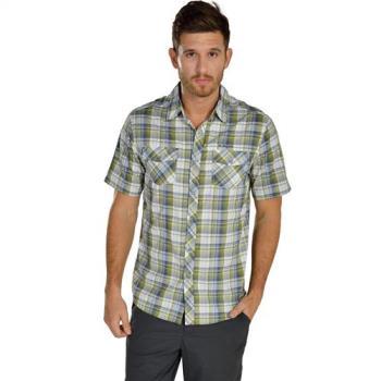 【聖伯納St. Bonalt】男-快乾短袖格子襯衫