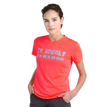 【聖伯納St. Bonalt】女-圖騰速乾運動T恤 7176 彈力 透氣 涼爽 舒適