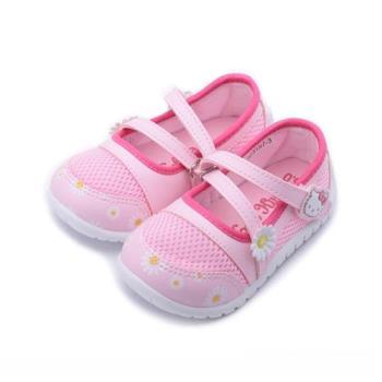 HELLO KITTY 網面小花娃娃鞋 粉 中小童鞋 鞋全家福