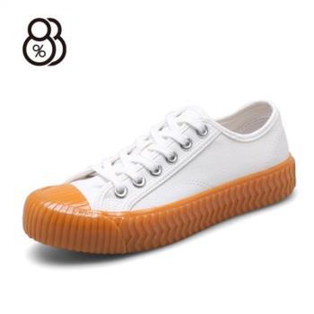 【88%】基本款休閒百搭流行 綁帶 低筒 帆布鞋 韓版百搭 貝殼鞋頭