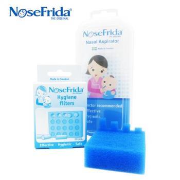 【NoseFrida】瑞典口吸式寶寶吸鼻器 + 拋棄式濾心 2盒組
