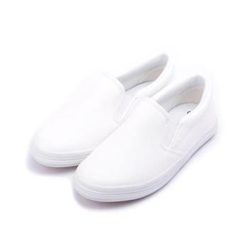 GIOVANNI VALENTINO 素面套式懶人鞋 白 中大童鞋 鞋全家福