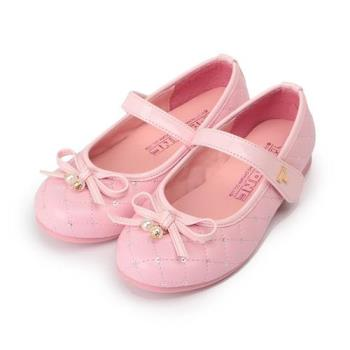 TOPU ONE 菱格蝴蝶公主鞋 粉 中童鞋 鞋全家福
