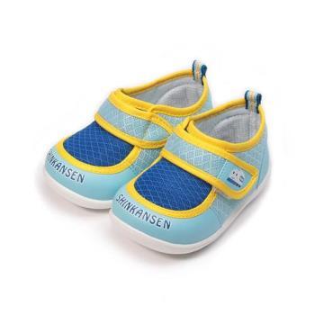 新幹線 魔鬼氈學步鞋 水藍 中小童鞋 鞋全家福