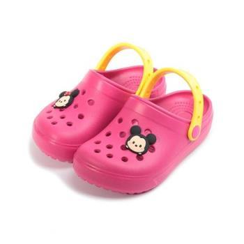DISNEY Tsum Tsum 角色造型園丁鞋 桃 中童鞋 鞋全家福