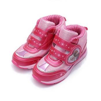 冰雪奇緣 愛心中筒運動鞋 粉 大童鞋 鞋全家福