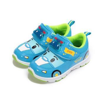 救援小英雄 波力汽車造型電燈鞋 藍 POKX71236 中童鞋 鞋全家福