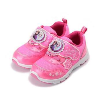 冰雪奇緣 電燈運動鞋 粉 FOKX74412 中大童鞋 鞋全家福
