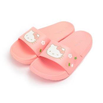 HELLO KITTY 輕量草莓童拖鞋 粉 中大童鞋 鞋全家福