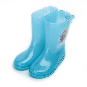 冰雪奇緣 安娜艾莎高筒雨鞋 藍 FOKL64856 中大童鞋 鞋全家福