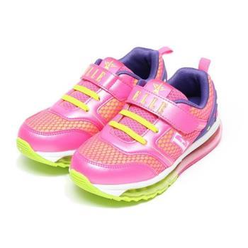 ELLE 電燈氣墊避震運動鞋 粉紅 中大童鞋 鞋全家福