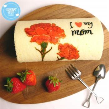 《糖果貓烘焙》溫馨康乃馨草莓蛋糕捲(420g/條)