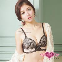 天使霓裳 內衣 愛戀夢遊 蕾絲美背成套內衣內褲(黑65~80) JV8802