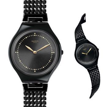 Swatch  獨特夜黑魅力石英腕錶   SVOB103G 16cm