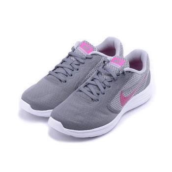 NIKE WMNS REVOLUTION 3 RUNNING 休閒跑鞋 灰桃 819303-022 女鞋 鞋全家福