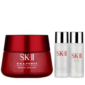 SK-II R.N.A.超肌能緊緻活膚霜(100g)+亮采化妝水(30ml)+青春露(30ml)