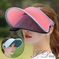 【I.Dear】韓國男女機能防曬抗UV螢光色翻簷鏡片遮陽帽(8色)現貨