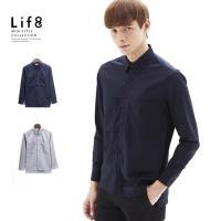 Life8-Formal 超親膚手感 寬版雙口袋 長袖襯衫