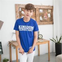 Jimmy Wang男生寶藍短袖T恤