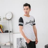 Jimmy Wang 男生白色美式足球運動風短袖T恤