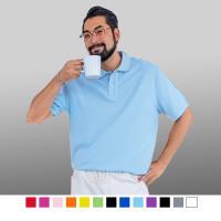 男人幫-透氣速乾素面舒適涼感短袖POLO衫