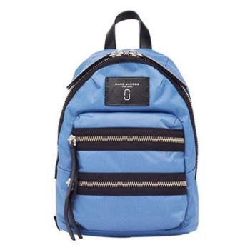 Marc Jacobs Biker 尼龍雙拉鍊後背包-小(藍)