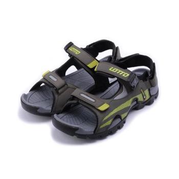 LOTTO 戶外運動涼鞋 灰綠 LT7AMS5215 男鞋 鞋全家福