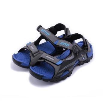 LOTTO 戶外運動涼鞋 灰藍 LT7AMS5216 男鞋 鞋全家福