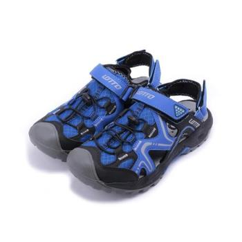LOTTO 護趾排水運動涼鞋 藍 LT7AMS5186 男鞋 鞋全家福