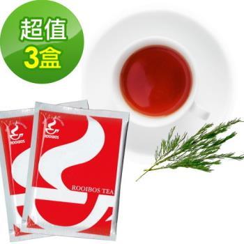 【樸優樂活】有機路易波斯紅茶/綠茶(20包/盒)(南非國寶茶)*3盒組